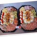 koude schotel met zalm-paling en Hollandse garnalen!